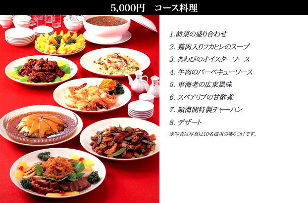 🔍¥5,000コース /お一人様(税別)