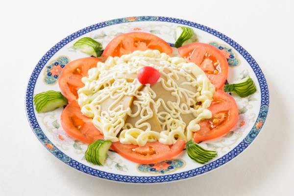 アワビの冷菜(マヨネーズ添え)Sサイズ:1750円 Mサイズ:3500円