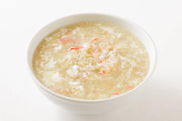 フカヒレのカニ肉入りスープ Sサイズ:2000円 Mサイズ:4000円