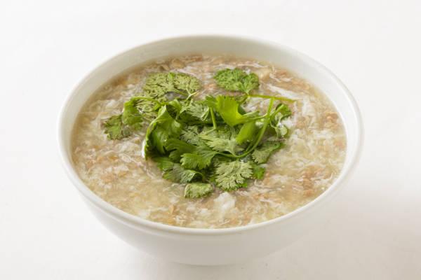 牛挽肉入りとろみスープ Sサイズ:1000円 Mサイズ:2000円