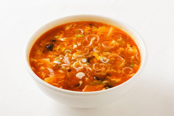 辛酢スープ Sサイズ:750円 Mサイズ:1500円
